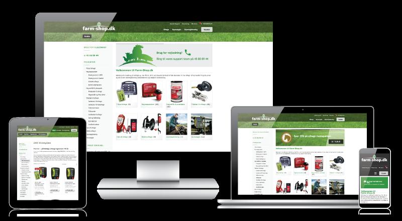 Farm-shop.dk på skærm, tablet og mobil
