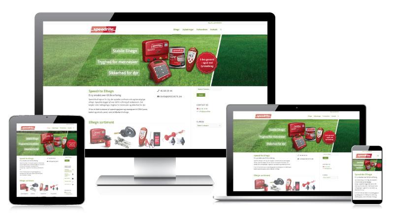 www.speedrite.dk på skærm, tablet og mobil